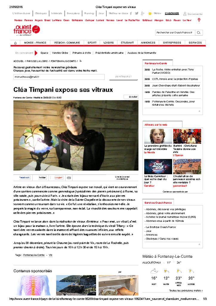 <u>Ouest France</u><br><br>29/09/2013