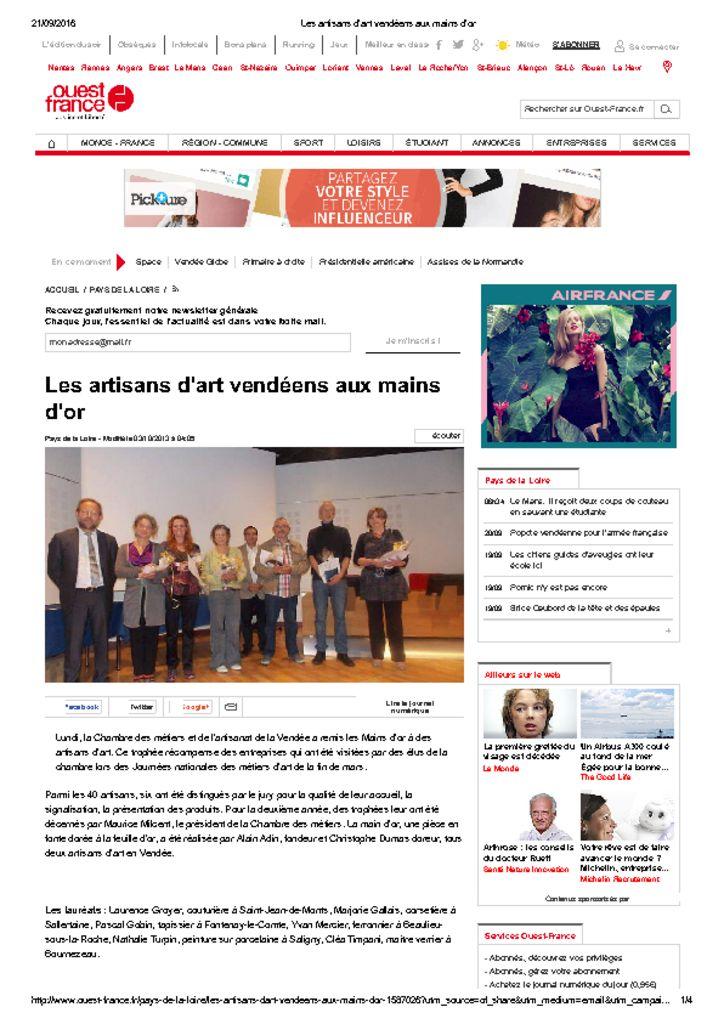 <u>Ouest France</u><br><br>03/10/2013