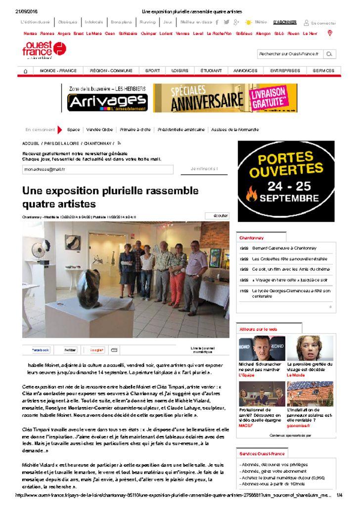 <u>Ouest France</u><br><br>11/08/2014