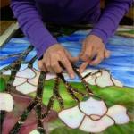 Cléa Timpani créatrice de vitraux Tiffany