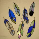 plumes en bleu