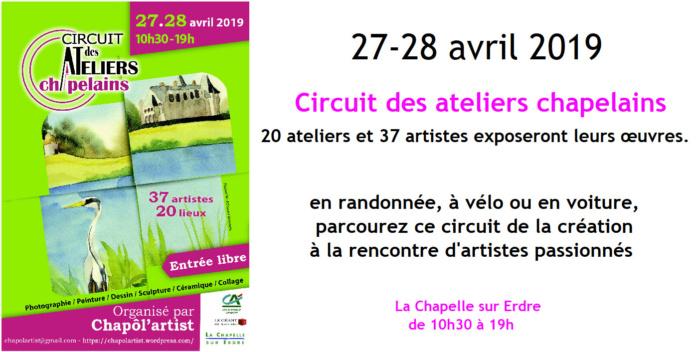 Circuit des Ateliers Chapelains La Chapelle sur Erdre - 27 28 avril 2019